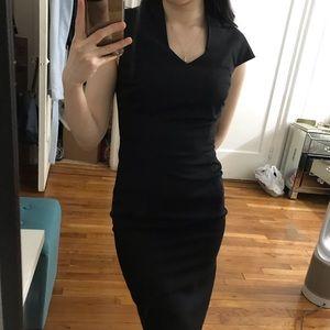 Reiss Black Sheath Dress in US 2